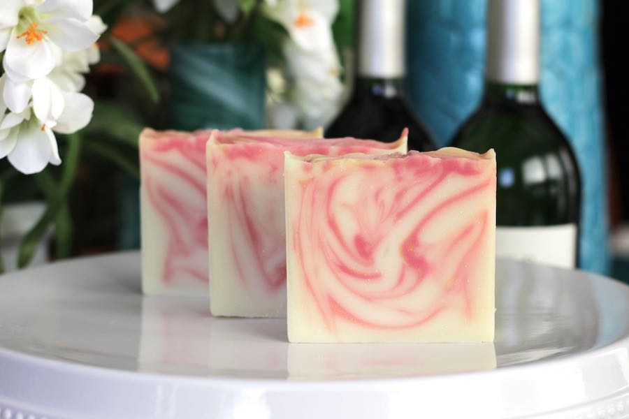 Wine inspired soap